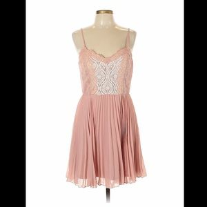 NWT Lily Rose pink pleated dress, XL
